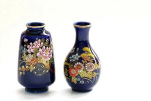 Mavi çin vazoları