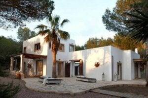 Akdeniz evlerinde dış mekan