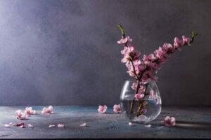 Akvaryumun içerisine çiçek koymak