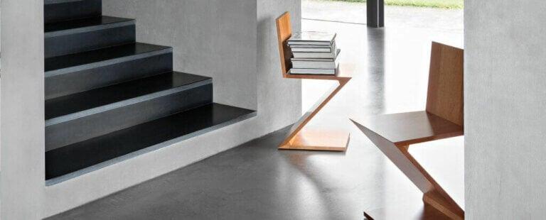 Gerrit Rietveld Eseri Zig-Zag Sandalyeler