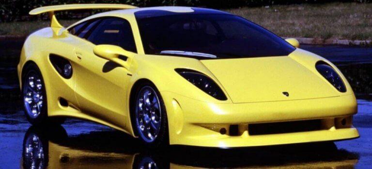 Giugiaro tarafından tasarlanan sarı bir araba