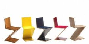 Gerrit Rietveld Eseri Zig-Zag Sandalye çeşitleri