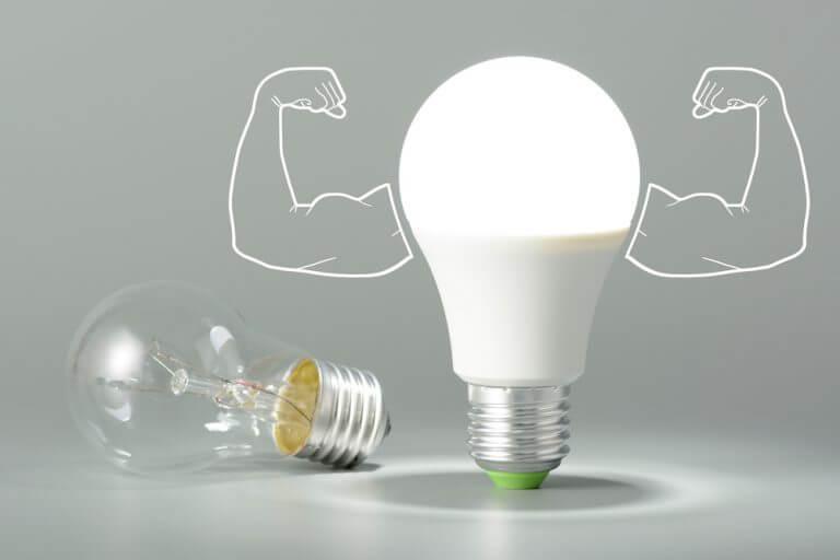 Akkor ampul yanında LED ampul