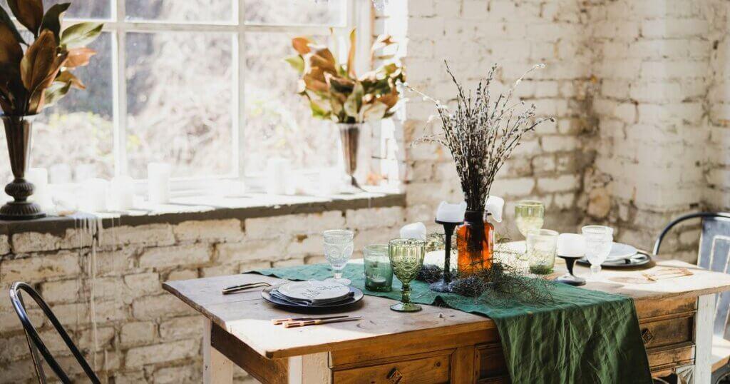 rustik stil dekoratif elementler