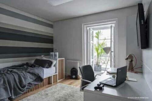 Çocuğunuzun odası için fransız balkon