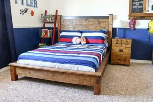 Çocuğunuzun odası dekore ederken kullanabileceğiniz ahşap yatak takımı