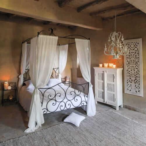 rustik stil yatak odası