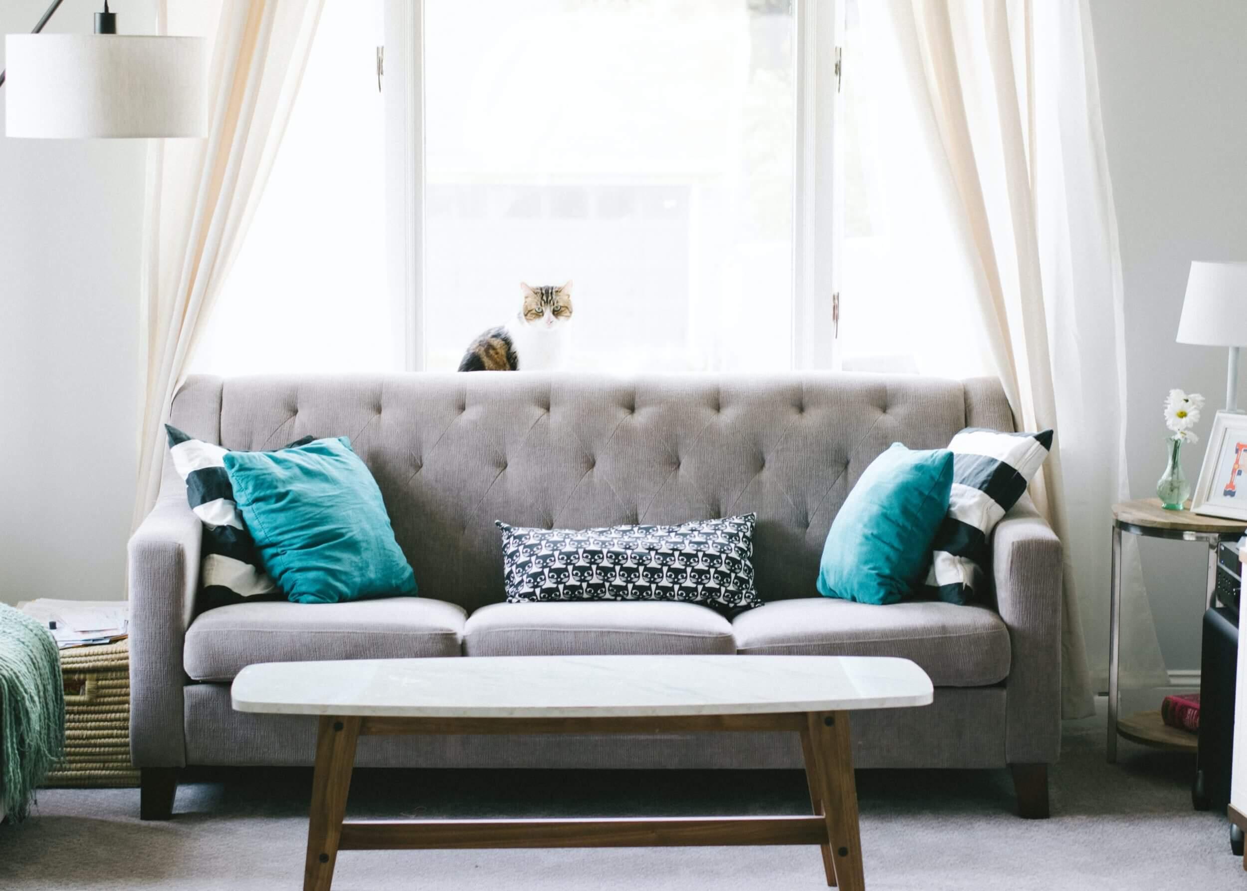 açık renk mobilyalar