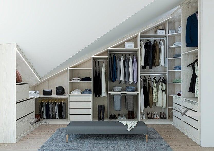 tavan arası giyinme odası