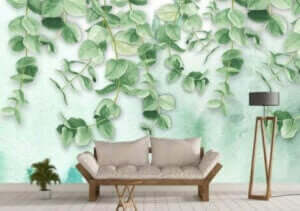 Bitki motifli duvar kağıdı
