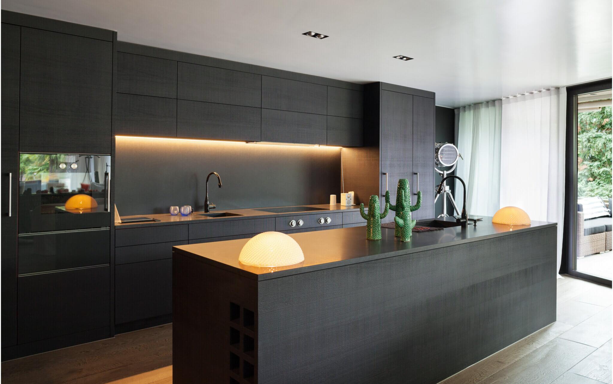 siyah mutfaklar