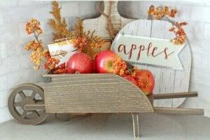 Dekorasyon amaçlı elma.