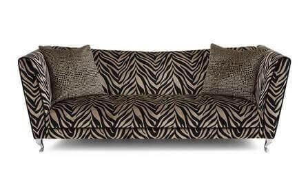 zebra desenli kanepeler