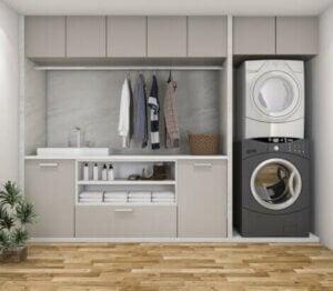 Kullanışlı bir çamaşır odası oluşturun.