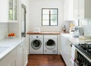 Mutfağınızda bir çamaşır odası oluşturun.