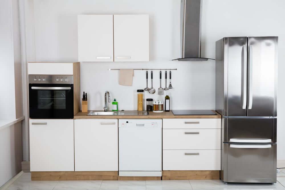 küçük dairelerdeki mutfaklar tekli mutfak