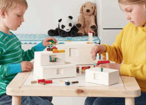 IKEA ve LEGO Yaratıcı Bir Depolama Yöntemi Sunuyor