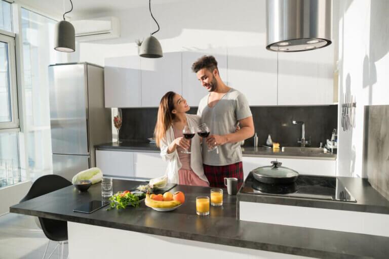 Modern bir mutfak tasarlamak için temel öğeler