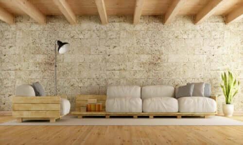 Rustik tarzdaki palet koltuklar