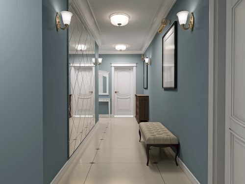 How Can You Decorate Wide Hallways?