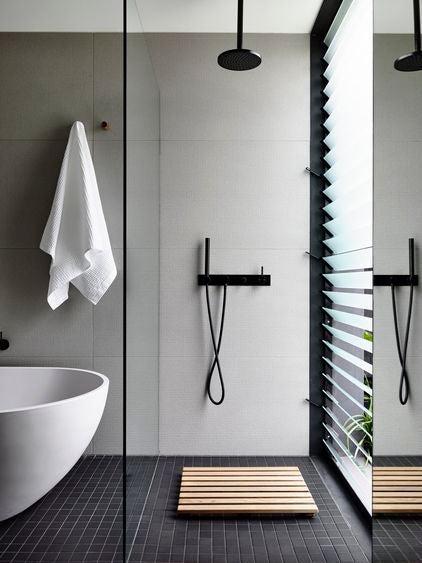 Bathroom change shower tub