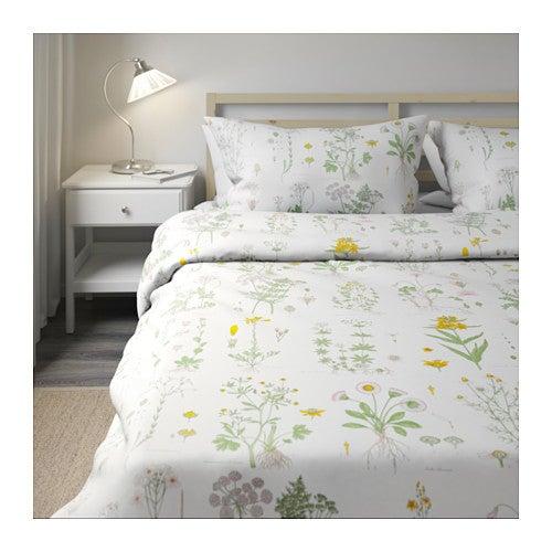 Flowered duvet covers.
