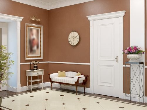 French gallant style entrance hall with Art Deco furnishings
