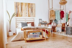 The natural boho style is one of the most popular bedding trends.