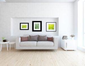 소파 뒤의 벽은 그림 을 걸기에 최적의 공간입니다.