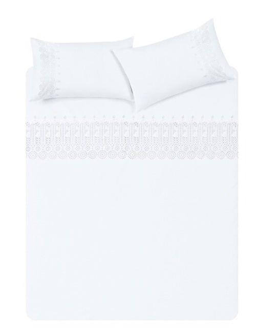Plain white sheets.