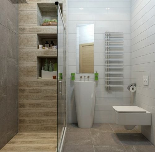 Small bathroom with big shower