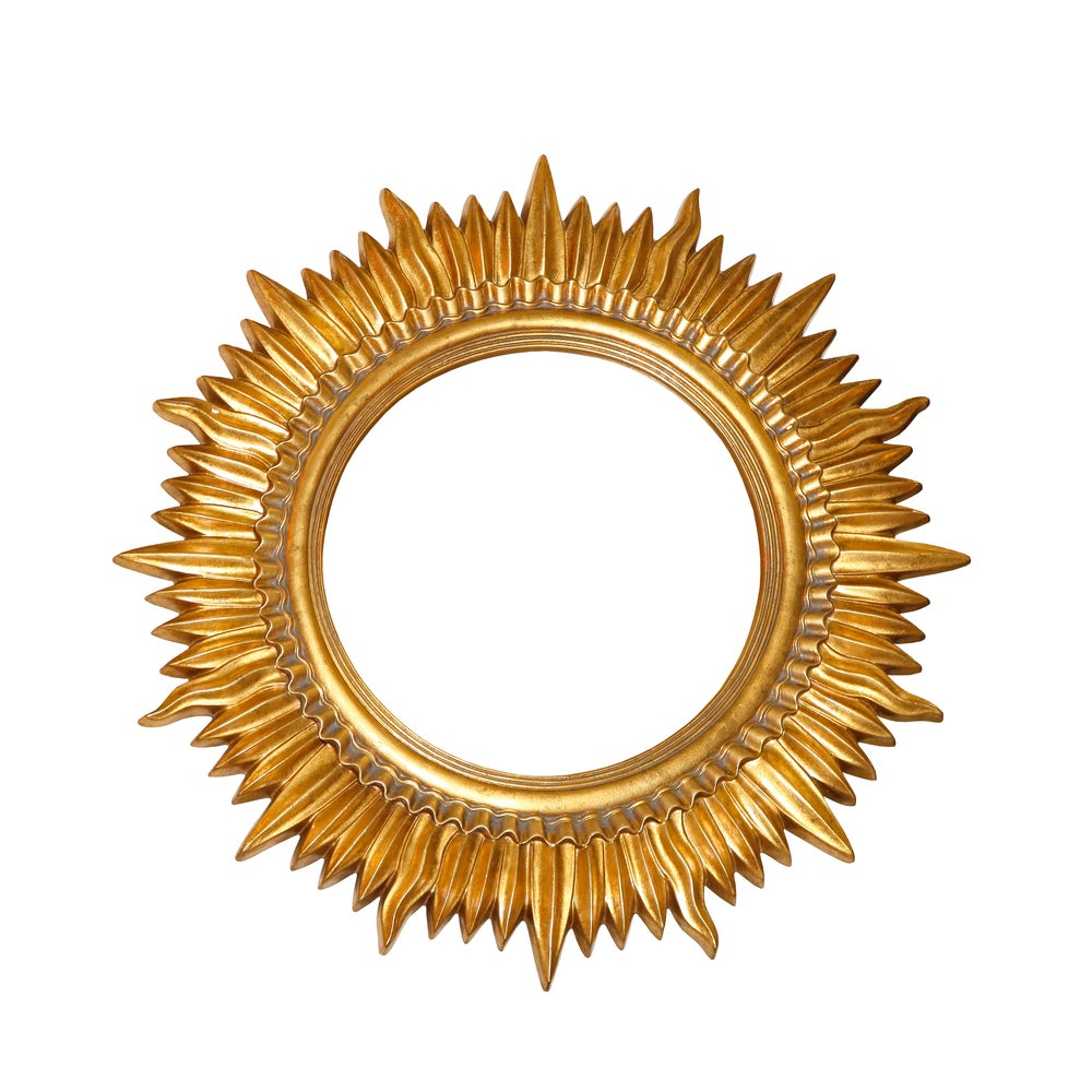 Sun mirror decor element