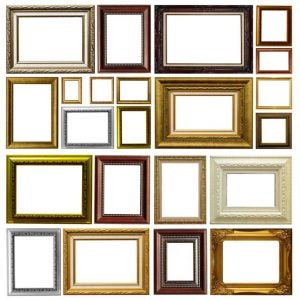 Picture frames come in all different shapes, sizes and materials.