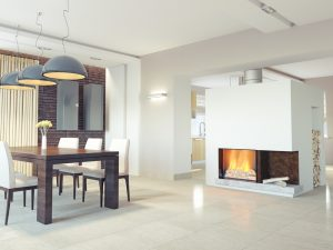The wood fireplace is the most classic design.