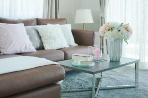 Some soft white cushions will really give your home that romantic touch.