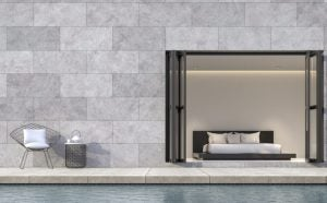 If you aren't a fan of micro-cement, why not try an alternative like faux-ceramic tiles.