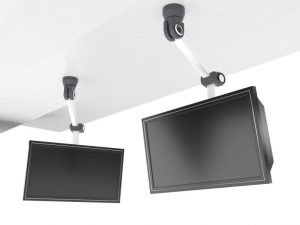 TV ceiling mounts are a great way to save space.