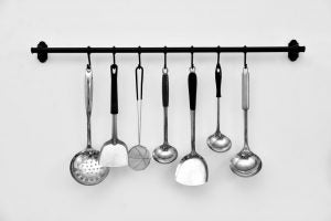 A practical hanging rack is an accessory which can help you save so much kitchen space.