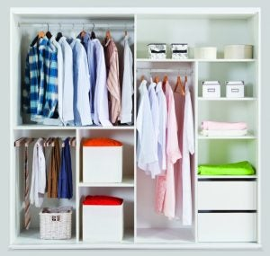 You can personalize the inside of your closet so that it perfectly suits your needs.