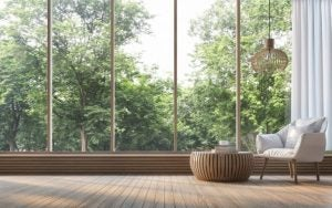A window with a fantastic view can be the perfect way to decorate your living room.