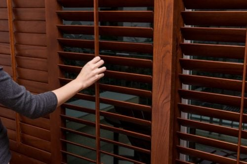 Window shades wooden blinds