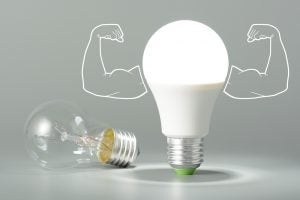 LED light bulbs are the best and most efficient bulbs on the market today.