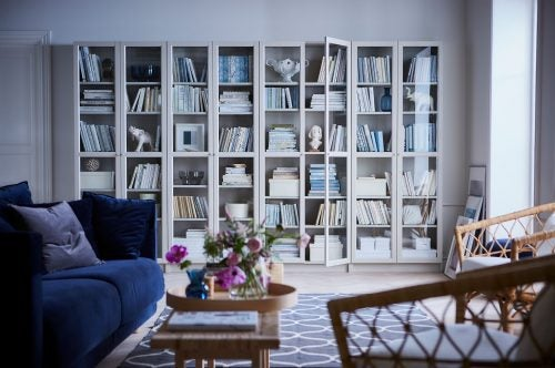 Billy shelving units from IKEA can be adjustable