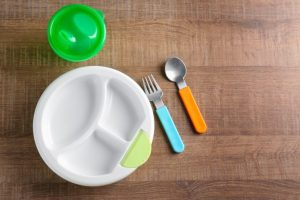 Plates that are divided into different sections are our favorite children's dinnerware.
