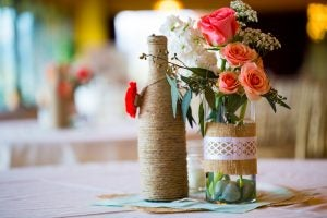 Use wine bottles to decorate your home