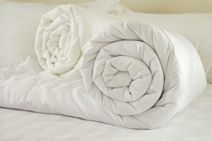 You can find natural or synthetic duvet filling.