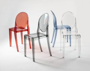 You can also find colored methacrylate chairs on the market.