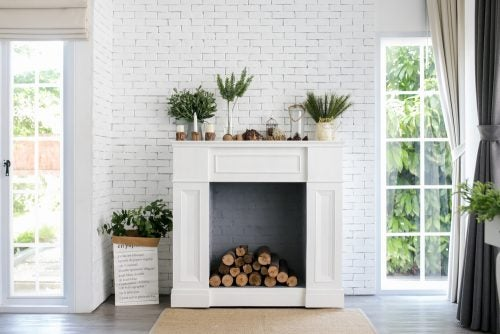 Modern fireplace no use