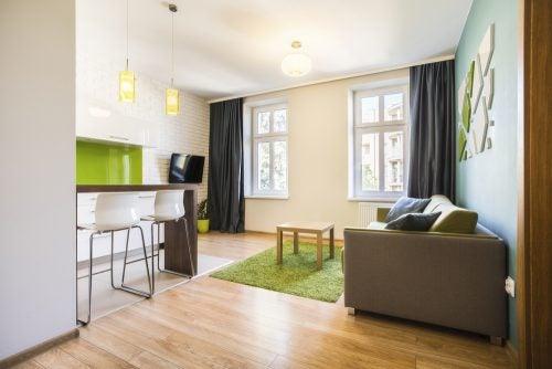 Ocher green furniture