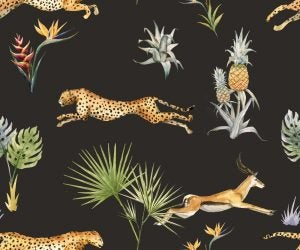 African Savannah animal motifs will look great in your living room.